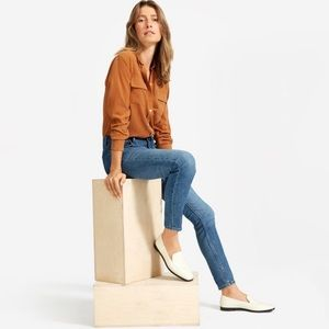 Everlane Mid Rise Skinny Straight Blue Jeans 27